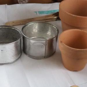 リメイク鉢・缶に挑戦