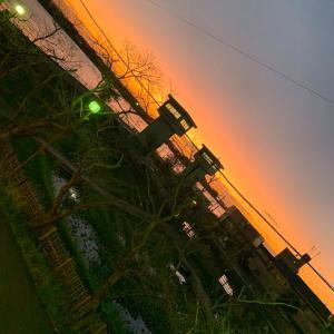 潮来の夕景