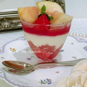シャトレーゼの桃パフェ♪