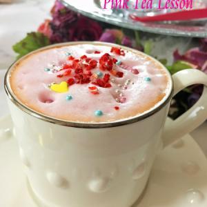 ひな祭りにピンクの紅茶♪