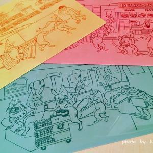 新幹線の旅を楽しむ鳥獣戯画!!