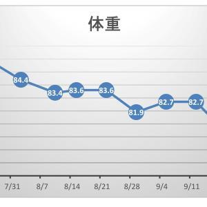 【pl⇒nt.】筋トレの効果をグラフ化する。ちょっと油断した週の結果ヾ(≧▽≦)ノ
