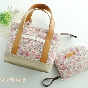 YUWAのミニトートバッグと ラウンドミニ財布♪