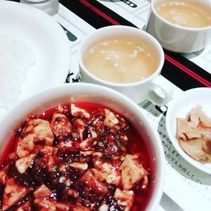 友達と麻婆豆腐ランチ