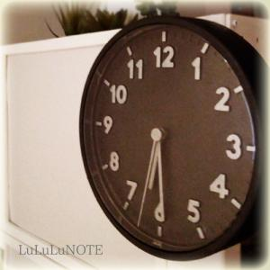 IKEAの時計をペイント