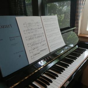 ピアノレッスン & 今朝のにゃんこ
