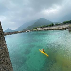8月なので8枚、石垣島でオレナ染め。ヘンプのストール。