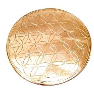 神聖幾何学模様 フラワーオブライフ 彫刻プレート