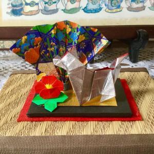 折り紙で干支の「 亥 」出来ました。
