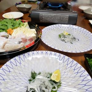 大阪のてっちり(ジニィーはじめて河豚雑炊食す)♪♪♪