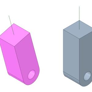 軸が傾いた時の描き方、楕円分度器を使うよ。
