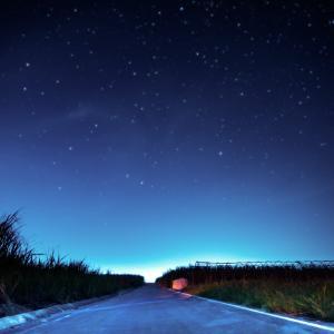 先日撮った星空とさとうきび畑
