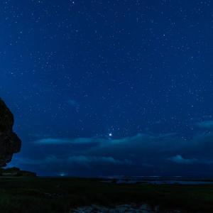 月食と満天の星のコラボ