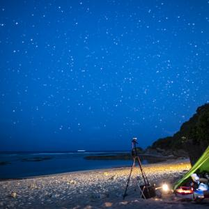 キャンプと星空