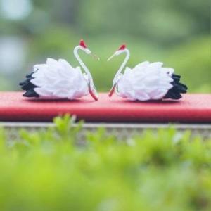 鶴のリングピロー