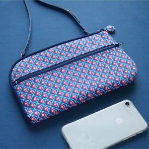 新作UP!爽やかな夏色リバティプリントで作った新作お財布ショルダーバッグ