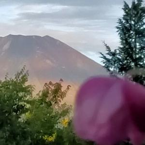 3日ぶりに雄姿表す富士山山梨山中湖から望む、その姿は365日変化
