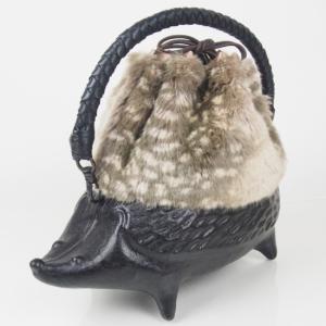 コシェルドゥ【ハリネズミ】のファー巾着バッグがネットショップに入荷!