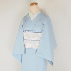 ネットショップに片貝木綿デニム着物【アイスブルー】が入荷!