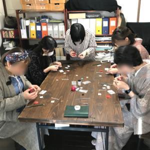 「 七宝焼kimito帯留め作りワークショップ」でした!