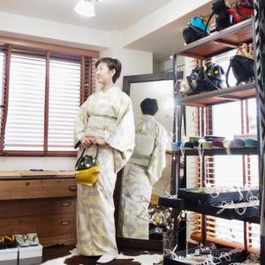 お気に入りの大島紬で。
