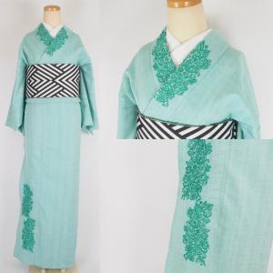 オーダー刺繍は片貝木綿デニム着物にもできます。