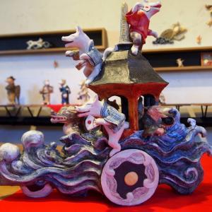 高橋協子さんの妖怪作陶展へ