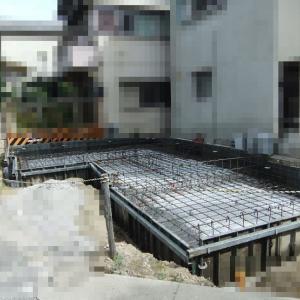 大阪府八尾市の木造2階建て住宅(E邸)-1 基礎の配筋検査