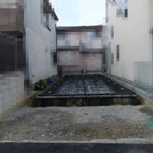 大阪府八尾市の木造3階建て住宅(G邸)-1 基礎の配筋検査