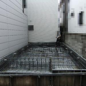 大阪府八尾市の木造3階建て住宅(L 邸)-1 基礎の配筋検査