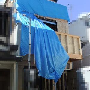 大阪府八尾市の木造3階建て住宅(L 邸)-2 中間検査(建て方)