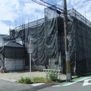 大阪府八尾市内の木造2階建て住宅( M邸)-2 中間検査(建て方)