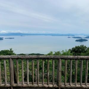 休山 山頂の展望台からの眺め
