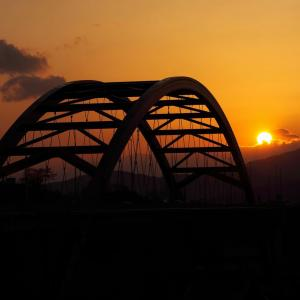 第二音戸大橋と夕日