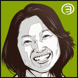 映画「その日のまえに」から、永作博美さんの似顔絵です