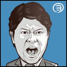 TBSドラマ「ノーサイドゲーム」から、上川隆也さんの似顔絵です