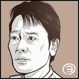 ドラマ「白い春」から、遠藤憲一さんの似顔絵です。