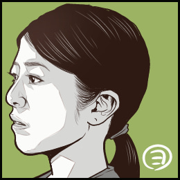 ドラマ「白い春」から、白石美帆さんの似顔絵です。