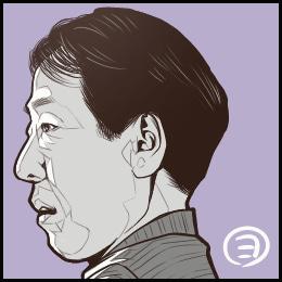 映画「いつか読書する日」から、岸部一徳さんの似顔絵です