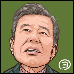 映画「終わった人」から、舘ひろしさんの似顔絵です。