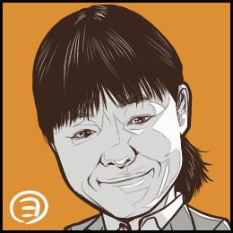 TBSドラマ「下町ロケット」から、イモトアヤコさんの似顔絵です