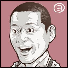 ドラマ「めんたいぴりり」から、博多華丸さんの似顔絵です