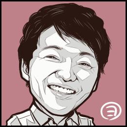 声優・山口勝平さんの似顔絵です