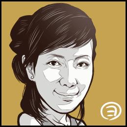 声優・戸田恵子さんの似顔絵です