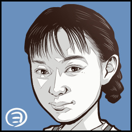 映画「毎日が夏休み」から、佐伯日菜子さんの似顔絵です