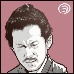 映画「散り椿」から、岡田准一さんの似顔絵です