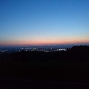新潟県長岡市の夜景 長岡栃尾巻線
