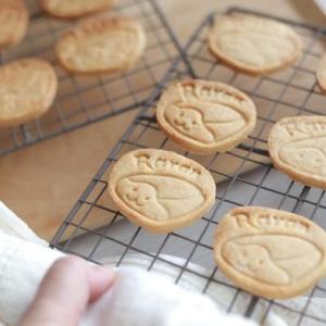 米粉の可愛いクッキーが焼けました♡