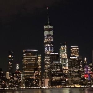 マンハッタンの夜景は、ジャージーシティーから