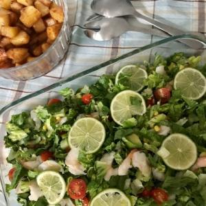 アメリカン家族の夕食へ*涼しげ夏サラダ